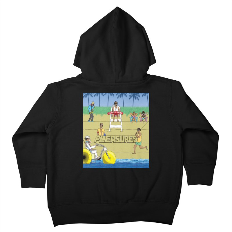 Pleasures Album Cover Kids Toddler Zip-Up Hoody by Variety Picnic