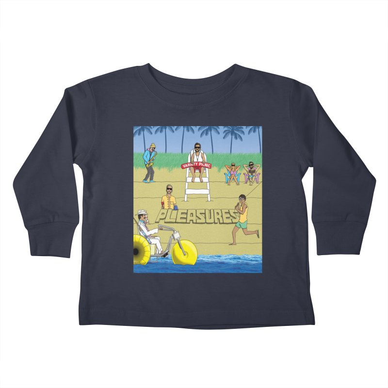 Pleasures Album Cover Kids Toddler Longsleeve T-Shirt by Variety Picnic