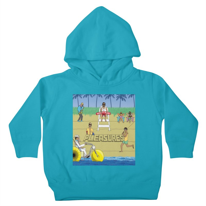 Pleasures Album Cover Kids Toddler Pullover Hoody by Variety Picnic