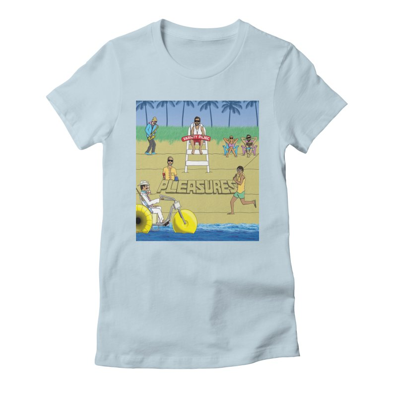 Pleasures Album Cover Women's Fitted T-Shirt by Variety Picnic