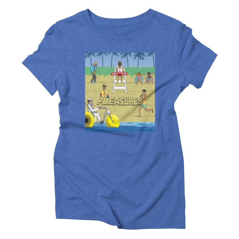 Pleasures Album Cover Women's Triblend T-Shirt by Variety Picnic