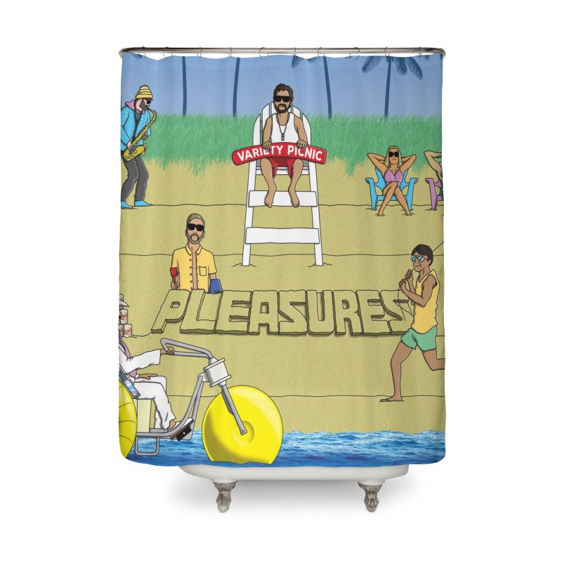 Pleasures Album Cover Home Shower Curtain by Variety Picnic