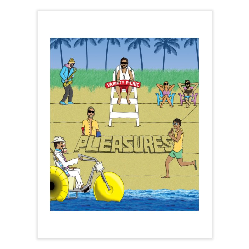 Pleasures Album Cover Home Fine Art Print by Variety Picnic