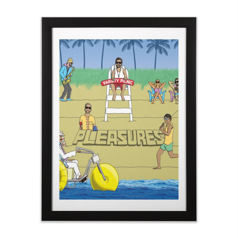 Pleasures Album Cover Home Framed Fine Art Print by Variety Picnic