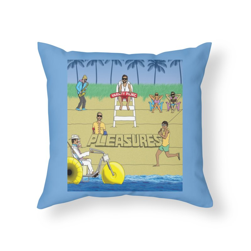 Pleasures Album Cover Home Throw Pillow by Variety Picnic