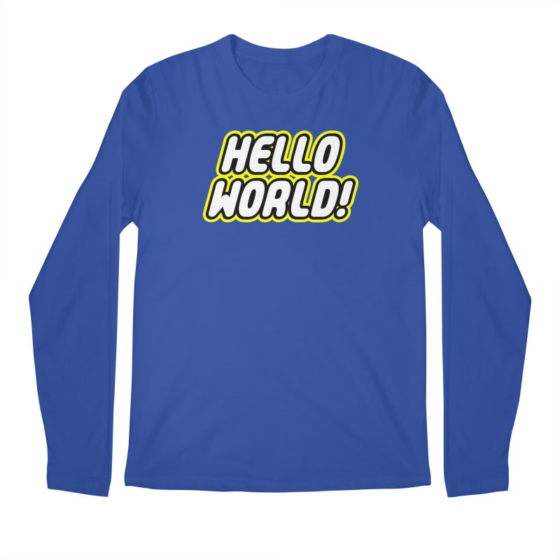 Hello World! Lego Men's Regular Longsleeve T-Shirt by Var x Apparel