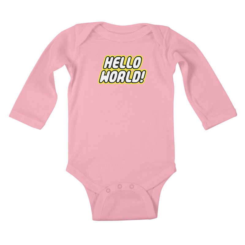 Hello World! Lego Kids Baby Longsleeve Bodysuit by Var x Apparel