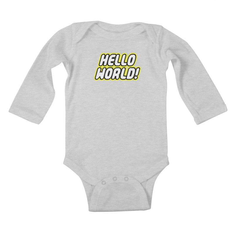 Hello World! Lego Kids Baby Longsleeve Bodysuit by Var x Apparel