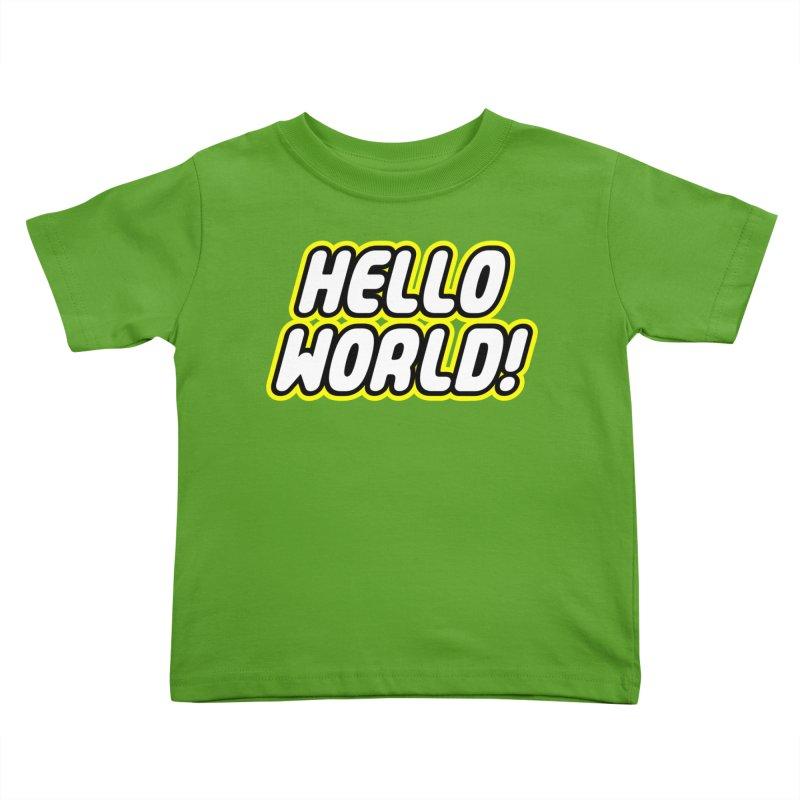 Hello World! Lego Kids Toddler T-Shirt by Var x Apparel