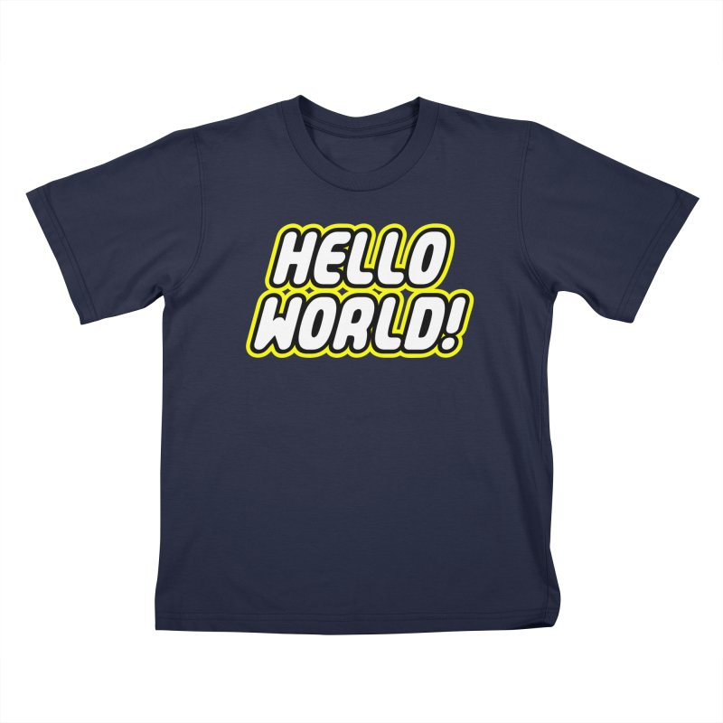 Hello World! Lego Kids T-Shirt by Var x Apparel