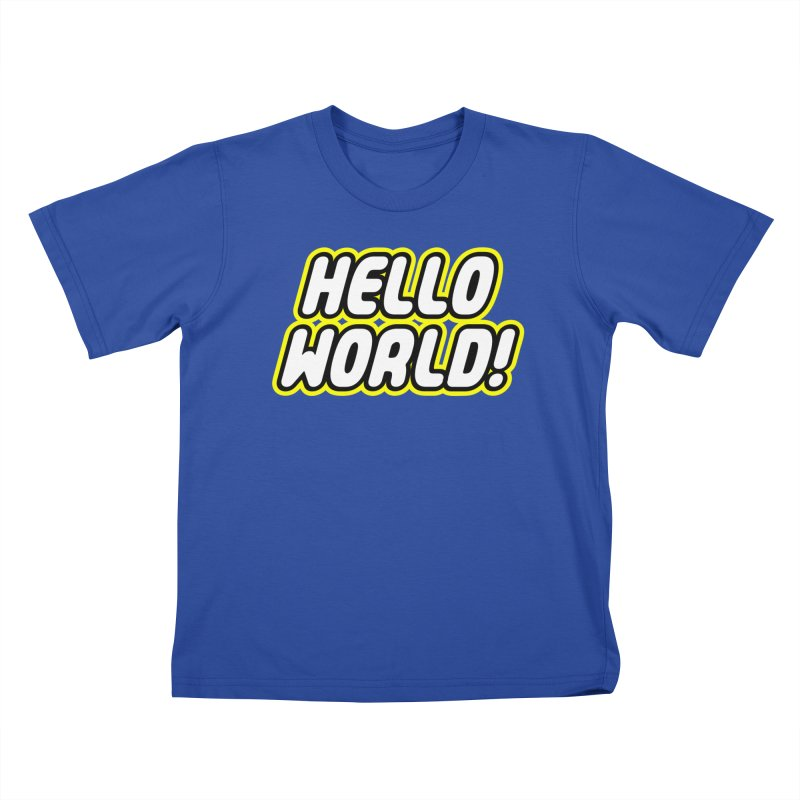Hello World! Lego Kids T-Shirt by Var x Apparel