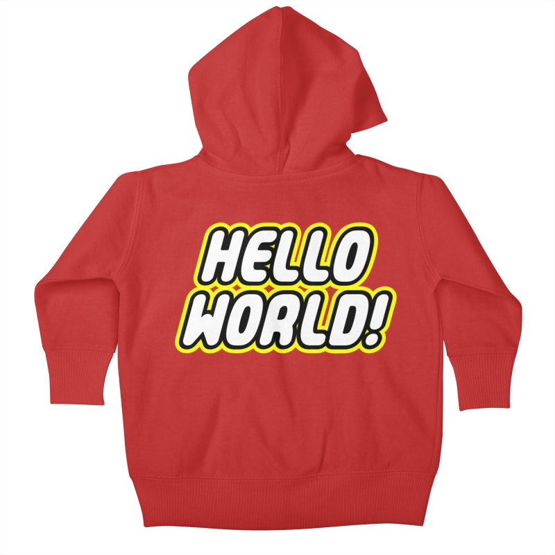 Hello World! Lego Kids Baby Zip-Up Hoody by Var x Apparel