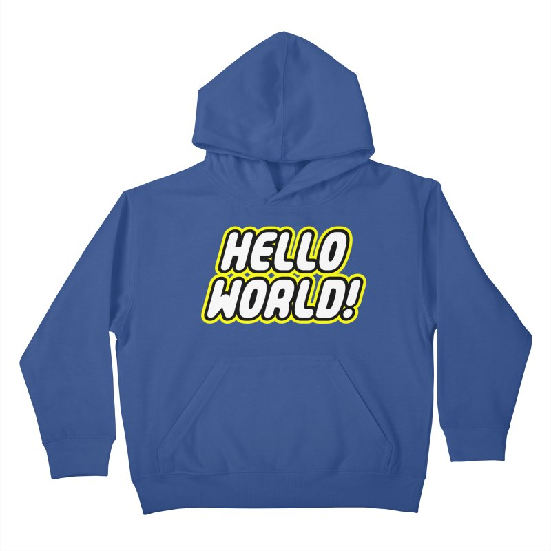 Hello World! Lego Kids Pullover Hoody by Var x Apparel