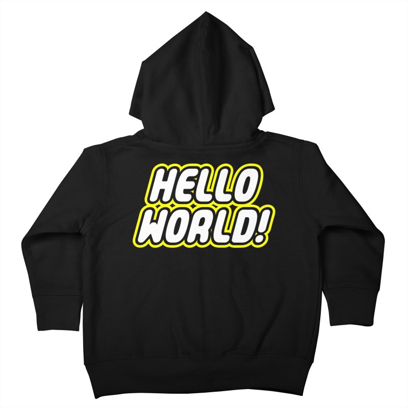 Hello World! Lego Kids Toddler Zip-Up Hoody by Var x Apparel