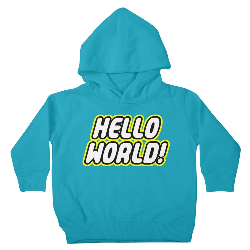 Hello World! Lego Kids Toddler Pullover Hoody by Var x Apparel
