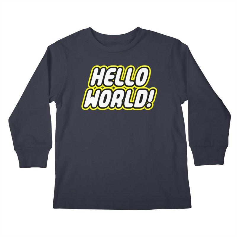 Hello World! Lego Kids Longsleeve T-Shirt by Var x Apparel