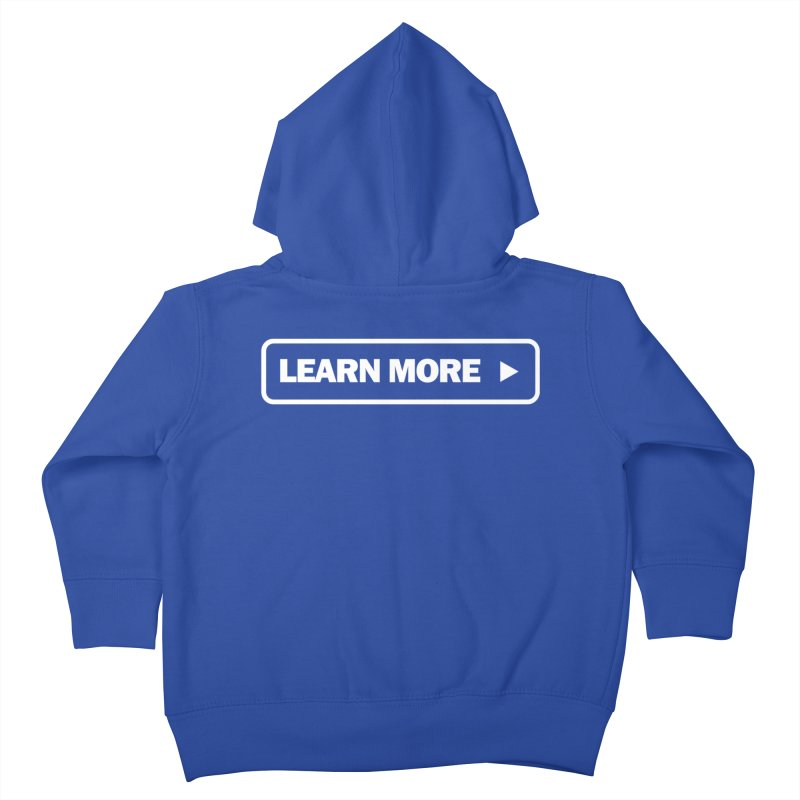 Learn More White Kids Toddler Zip-Up Hoody by Var x Apparel