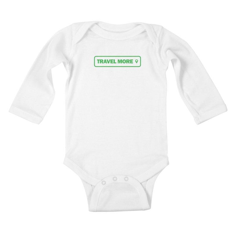Travel More Kids Baby Longsleeve Bodysuit by Var x Apparel