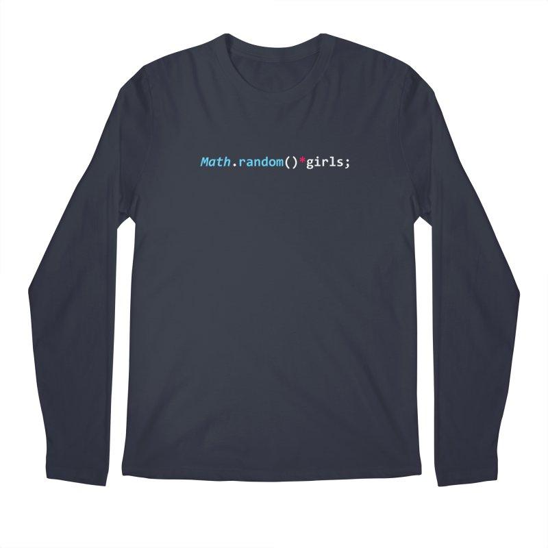 Random Girls Men's Regular Longsleeve T-Shirt by Var x Apparel