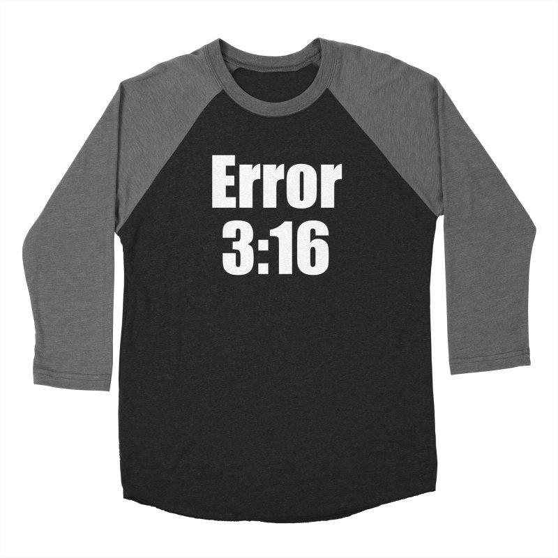 Error 3:16 Men's Baseball Triblend Longsleeve T-Shirt by Var x Apparel