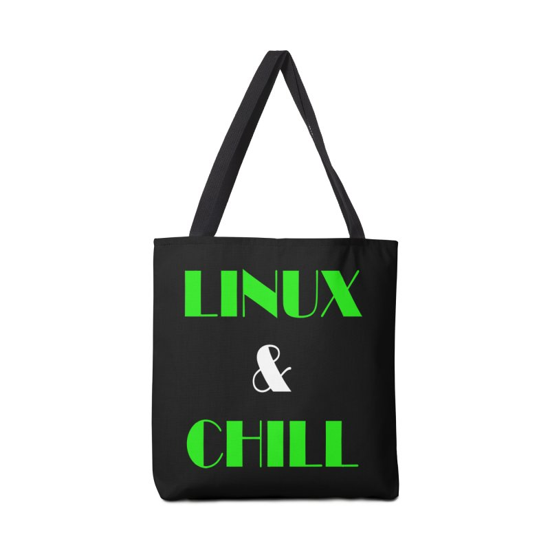 Linux & Chill Accessories Tote Bag Bag by Var x Apparel