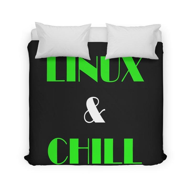 Linux & Chill Home Duvet by Var x Apparel
