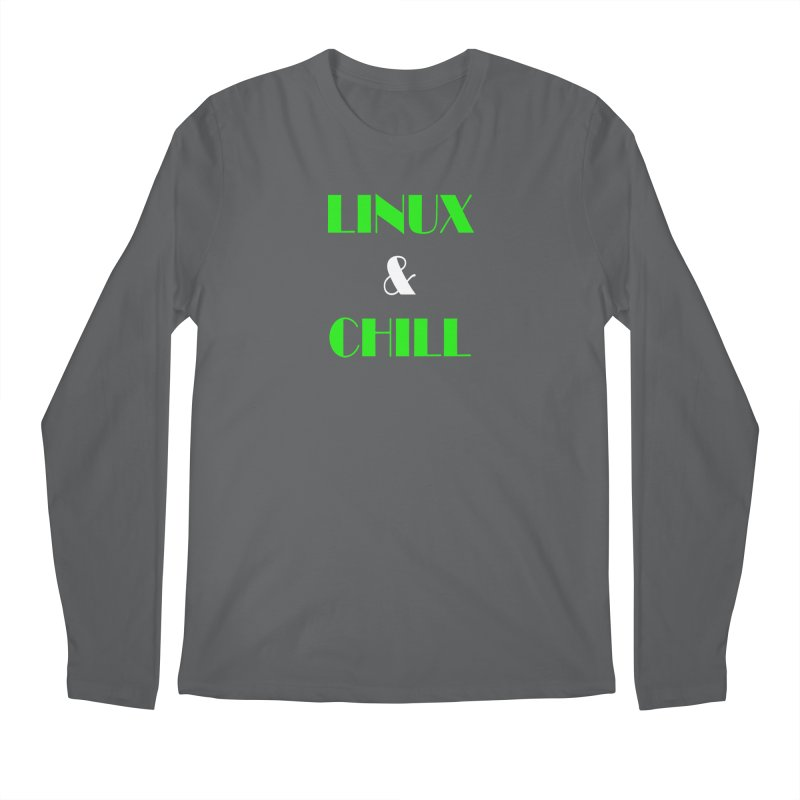 Linux & Chill Men's Regular Longsleeve T-Shirt by Var x Apparel