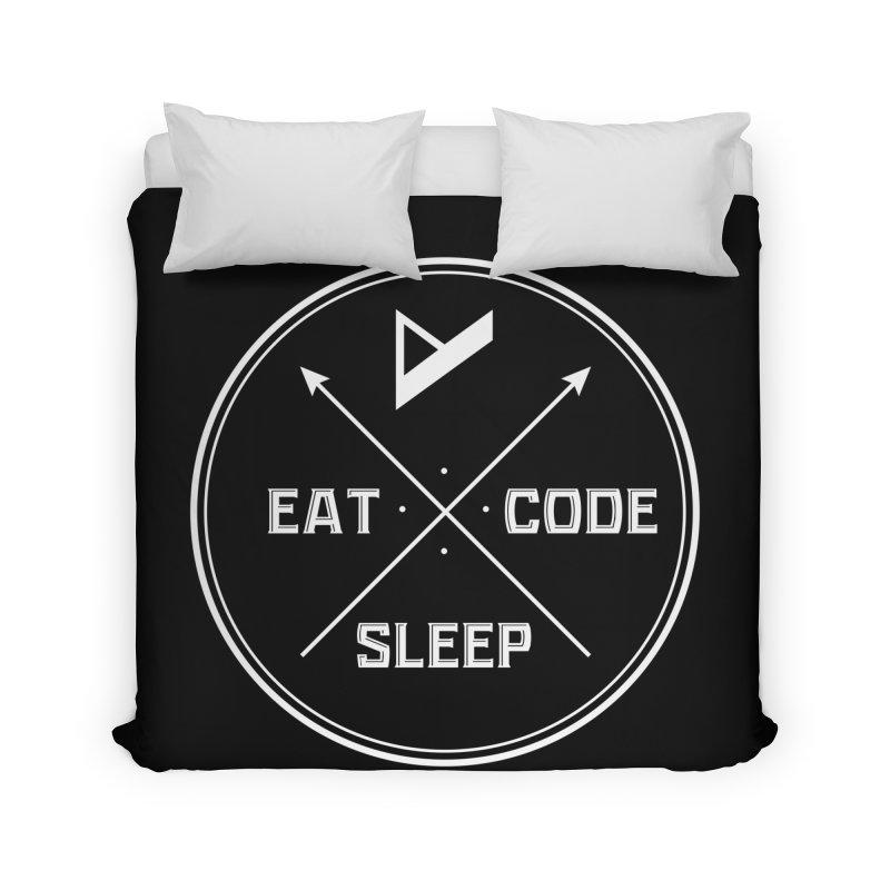 Eat. Sleep. Code. Repeat. Home Duvet by Var x Apparel