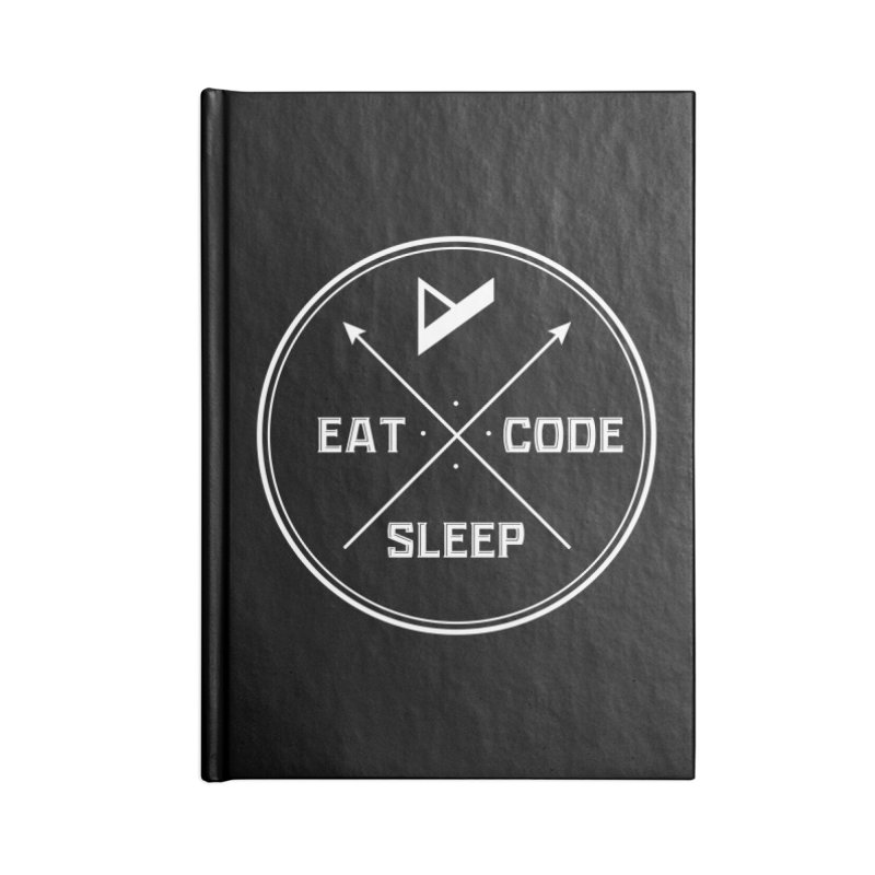 Eat. Sleep. Code. Repeat. Accessories Lined Journal Notebook by Var x Apparel