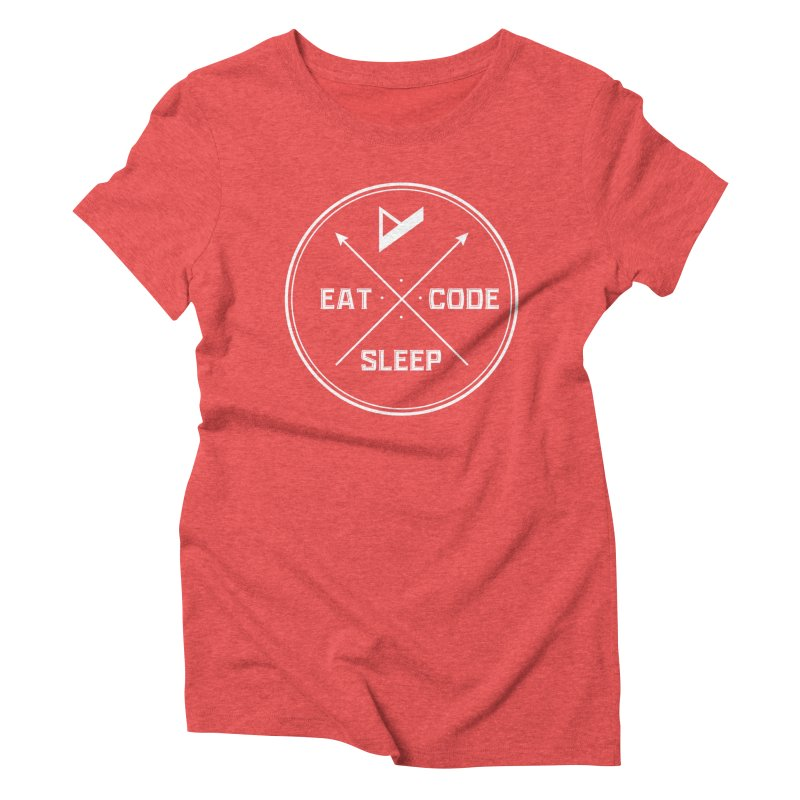Eat. Sleep. Code. Repeat. Women's Triblend T-Shirt by Var x Apparel