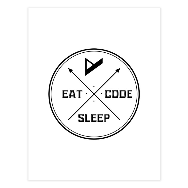 Eat. Sleep. Code. Repeat. Home Fine Art Print by Var x Apparel