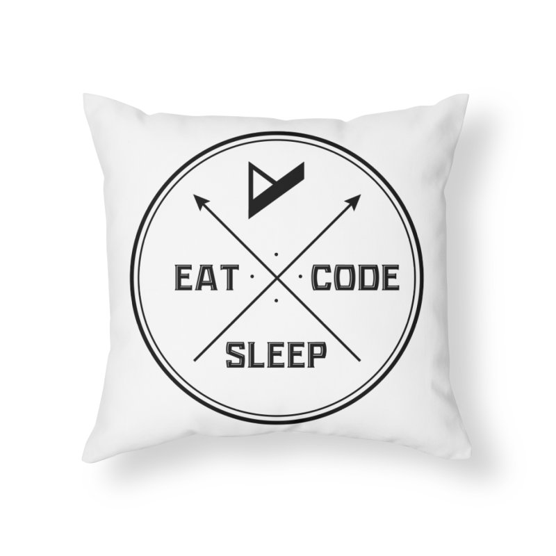 Eat. Sleep. Code. Repeat. Home Throw Pillow by Var x Apparel