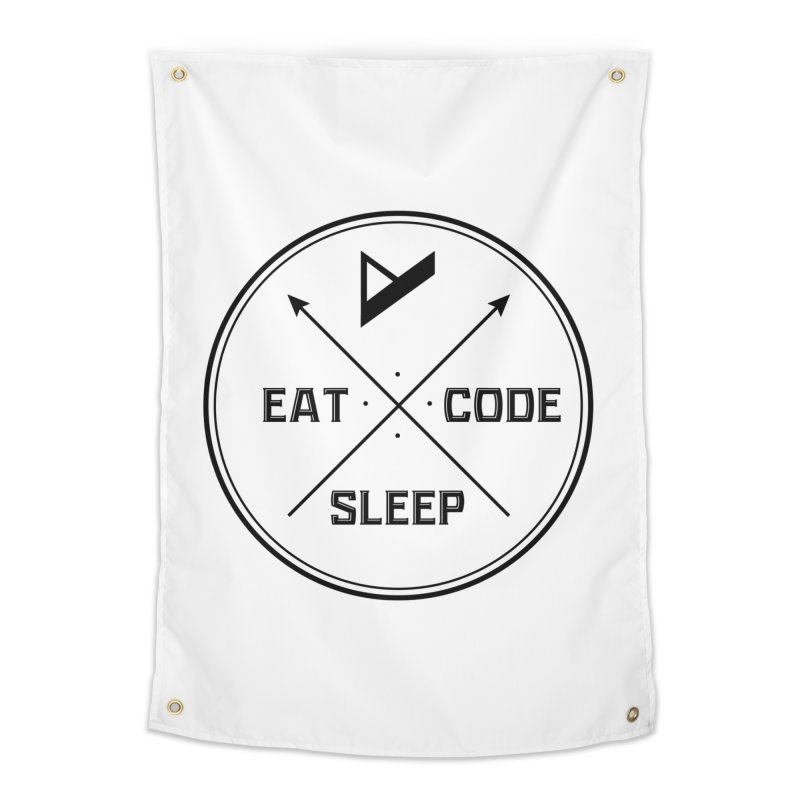 Eat. Sleep. Code. Repeat. Home Tapestry by Var x Apparel