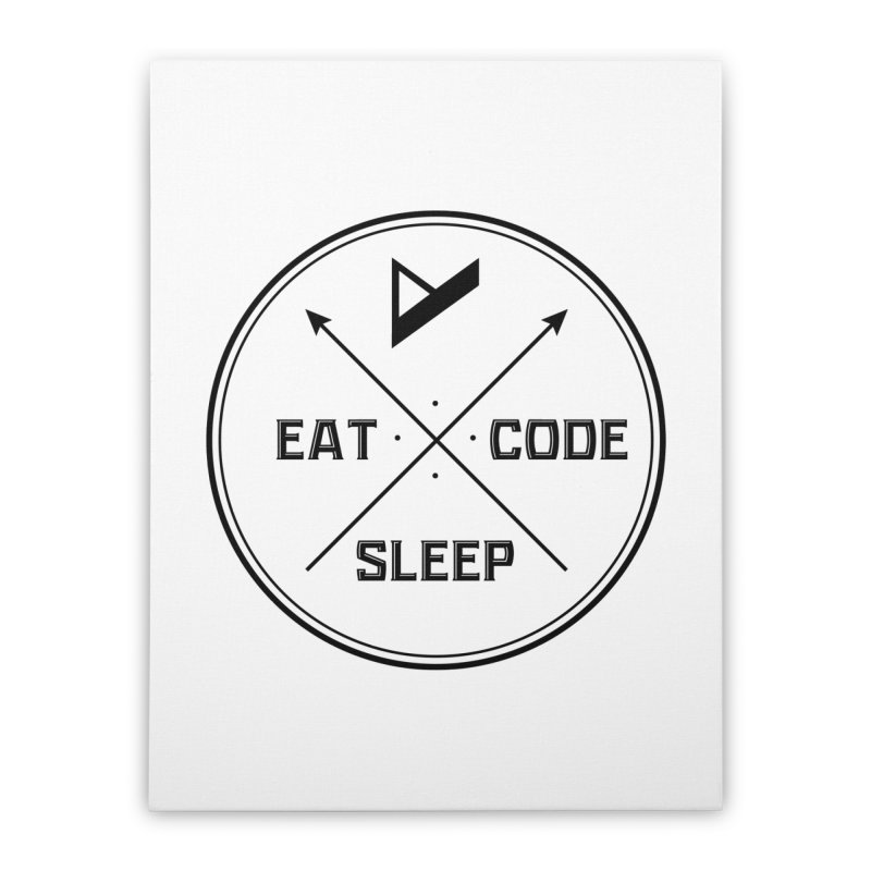 Eat. Sleep. Code. Repeat. Home Stretched Canvas by Var x Apparel
