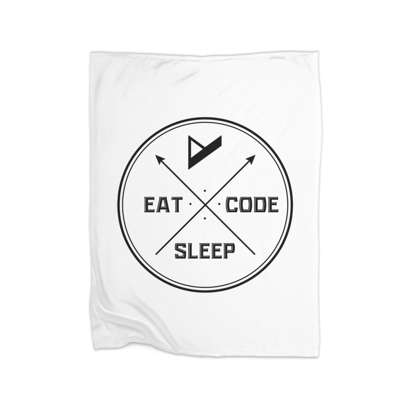 Eat. Sleep. Code. Repeat. Home Fleece Blanket Blanket by Var x Apparel
