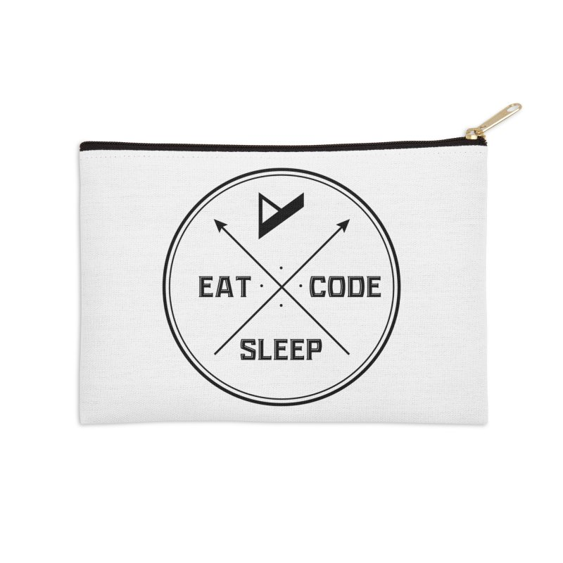 Eat. Sleep. Code. Repeat. Accessories Zip Pouch by Var x Apparel