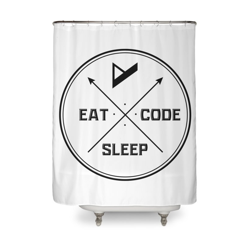 Eat. Sleep. Code. Repeat. Home Shower Curtain by Var x Apparel