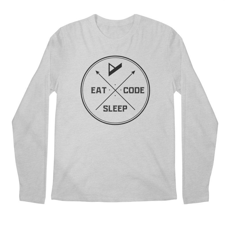 Eat. Sleep. Code. Repeat. Men's Longsleeve T-Shirt by Var x Apparel