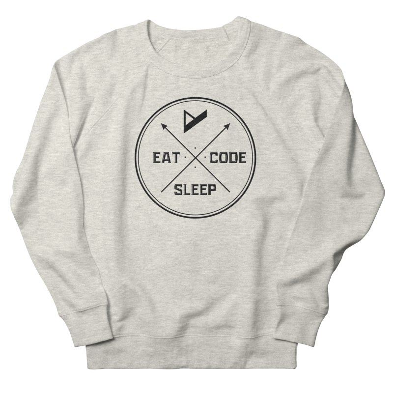 Eat. Sleep. Code. Repeat. Men's French Terry Sweatshirt by Var x Apparel