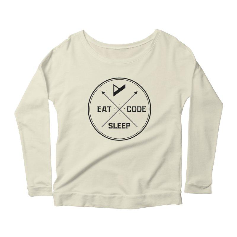 Eat. Sleep. Code. Repeat. Women's Scoop Neck Longsleeve T-Shirt by Var x Apparel