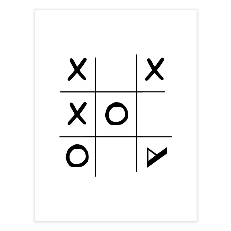 Tic Tac Toe Home Fine Art Print by Var x Apparel