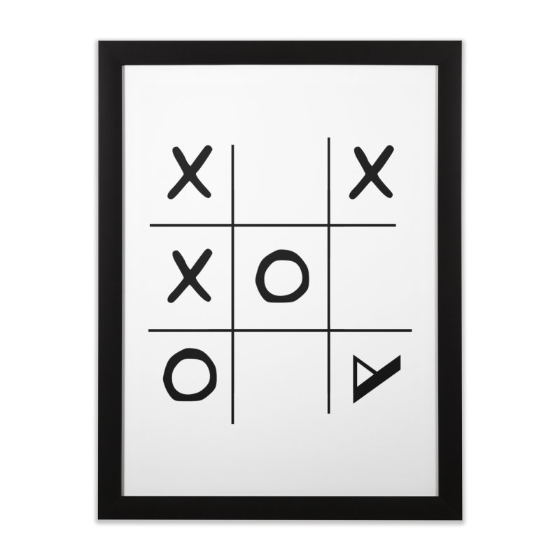 Tic Tac Toe Home Framed Fine Art Print by Var x Apparel