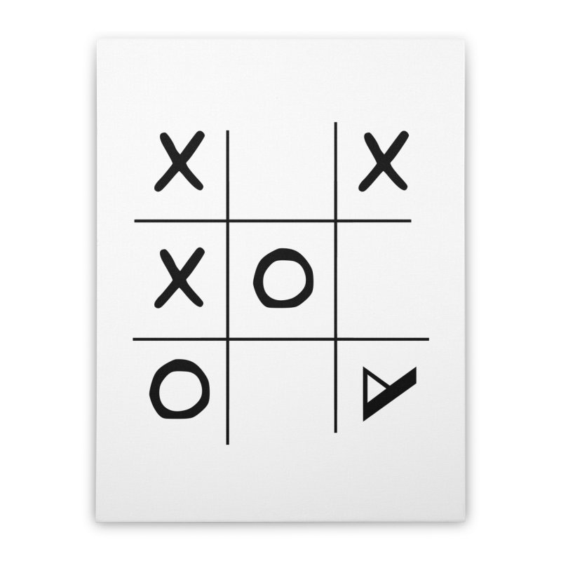 Tic Tac Toe Home Stretched Canvas by Var x Apparel