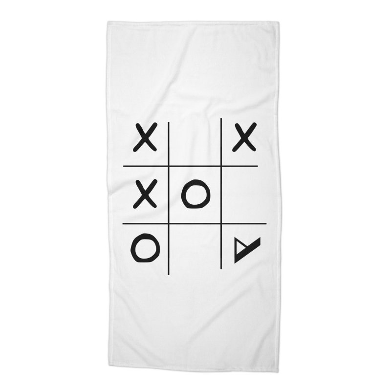 Tic Tac Toe Accessories Beach Towel by Var x Apparel
