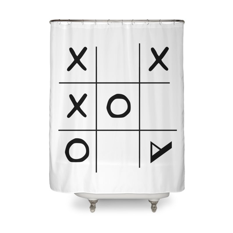 Tic Tac Toe Home Shower Curtain by Var x Apparel