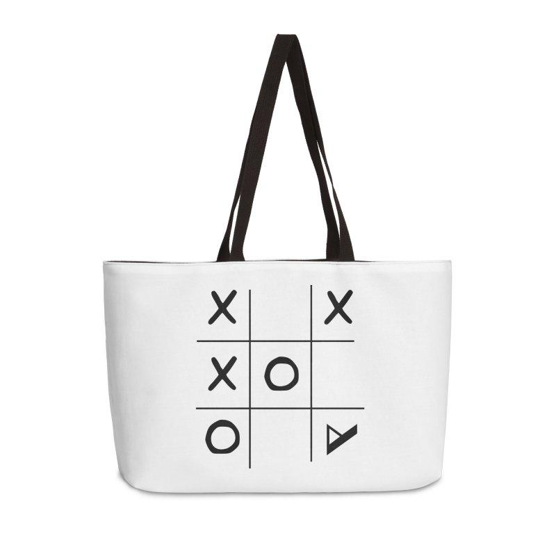 Tic Tac Toe Accessories Weekender Bag Bag by Var x Apparel