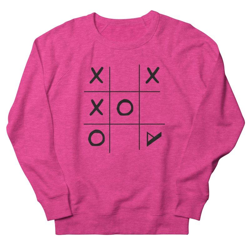 Tic Tac Toe Women's French Terry Sweatshirt by Var x Apparel