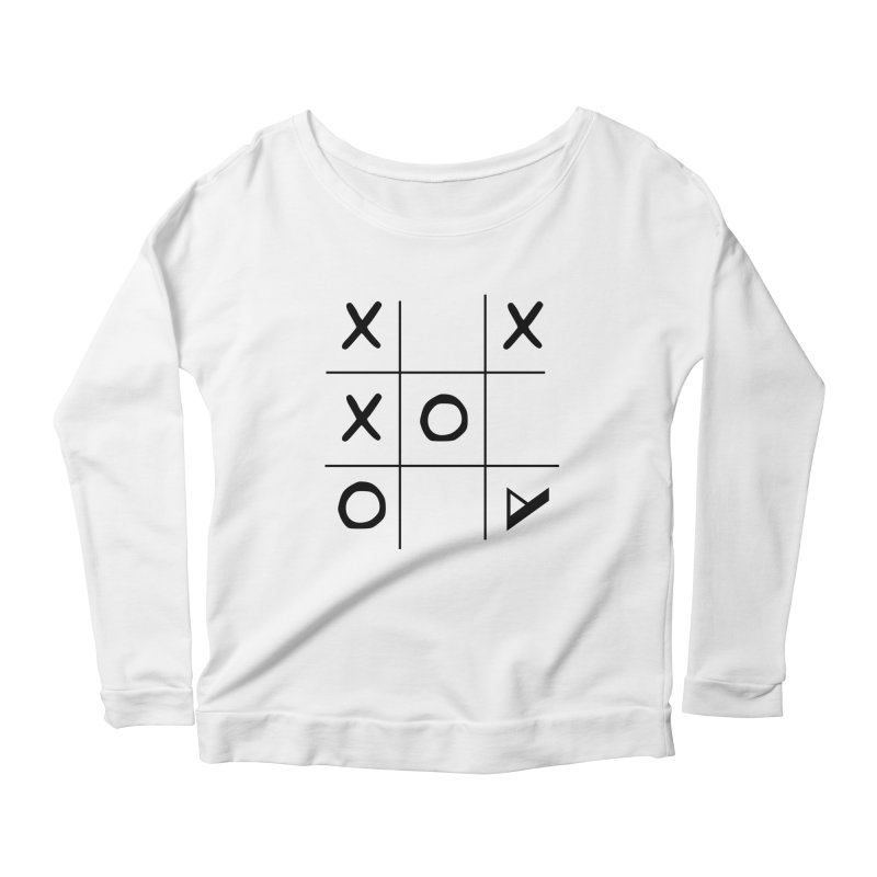 Tic Tac Toe Women's Scoop Neck Longsleeve T-Shirt by Var x Apparel