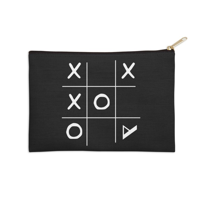 Tic Tac Toe Accessories Zip Pouch by Var x Apparel