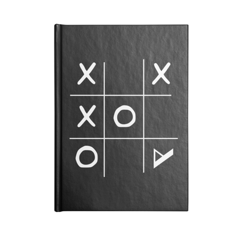 Tic Tac Toe Accessories Blank Journal Notebook by Var x Apparel